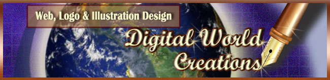 Digital World Creations - website design, logo design and print design